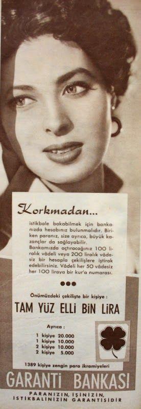 OĞUZ TOPOĞLU : garanti bankası 1959 nostaljik eski reklamlar 3