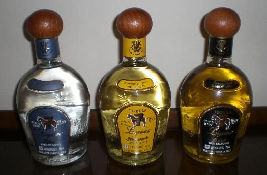 Cooking Light winner of 18 nationally available tequilas.  The best sipping tequila for folks who like a smooth brandy and are discriminating tequila lovers.  Tequila Siete Leguas (straw-colored on right) 50 USD for 750 ml