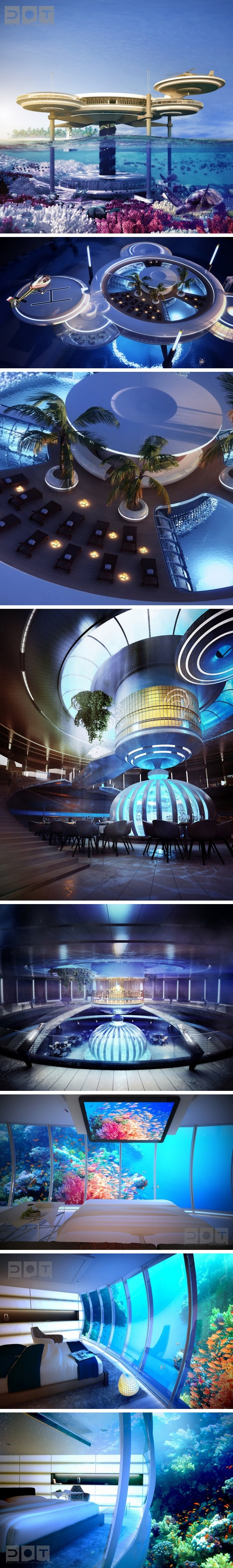 Modern architecture deep ocean technology comes to life in for D shaped hotel in dubai