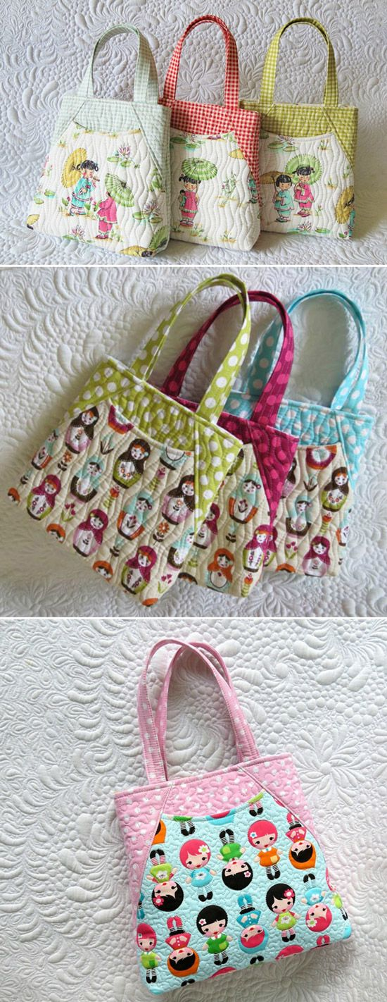 Soft and lightweight quilted mini bags- best present for any little girl!