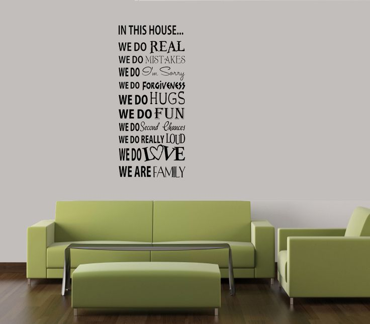 Best Wall Stickers Images On Pinterest Vinyl Wall Quotes - Custom vinyl wall decals family quotes