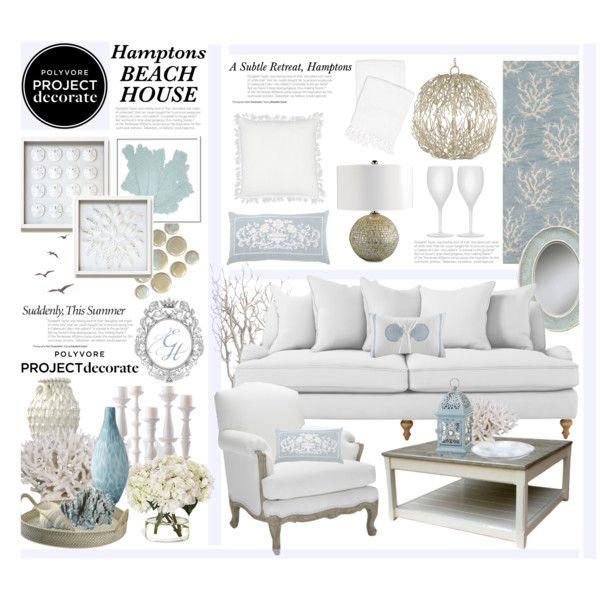 """The Hamptons Subtle Beach Retreat"" by hmb213 on Polyvore"