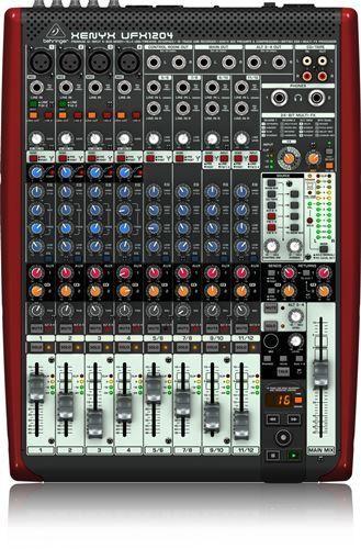 BEHRINGER XENYX UFX1204 Mesa de mezclas analógica con interface USB/firewire integrado 24 bit/96Khz y grabador USB de 16 pistas. http://www.audiotronics.es/product.aspx?productid=1183103