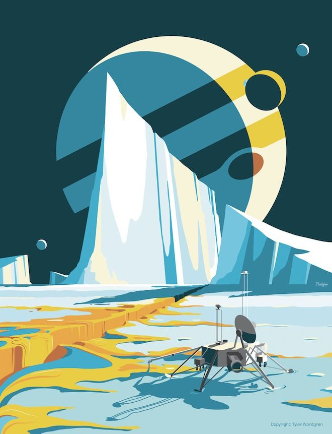 Visit National Parks on Other Planets With These Fantastic Posters | WIRED