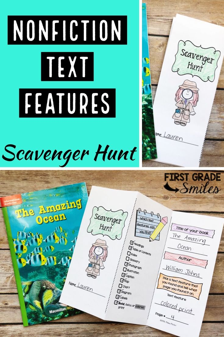 medium resolution of Nonfiction Text Features Scavenger Hunt in 2020   Reading informational  texts