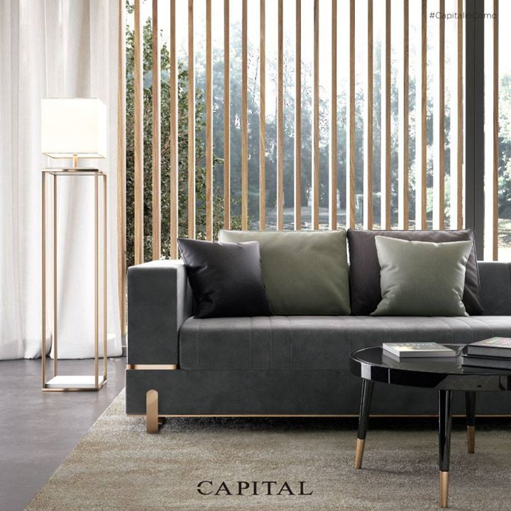 Capital Collection Grand Sofa The Lines Are Cleaned For A Contemporary And Elegant Atmosphere Contemporary Designers Furniture Italian Sofa Luxury Furniture Living Room Sofa Design