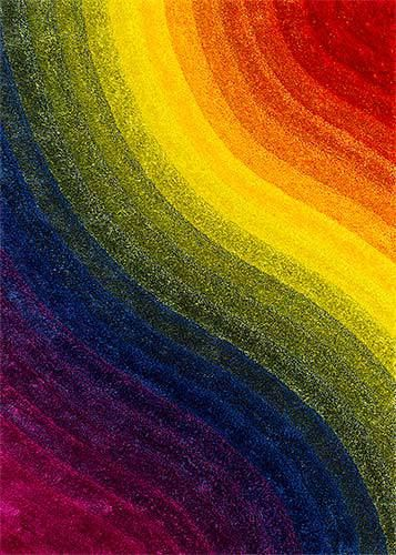 brighten up your home today with this great 3d shag rug very colorful