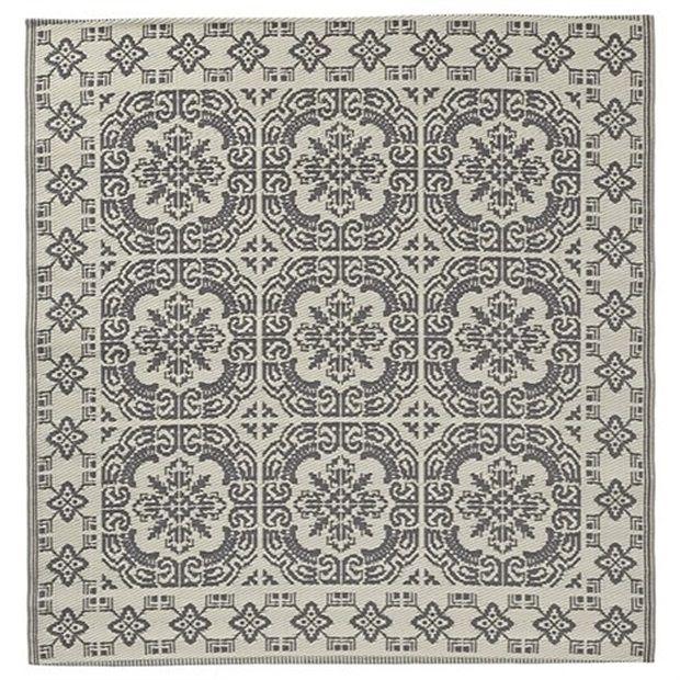 Lene Bjerre Aldine Vloerkleed Grijs/Wit - 150 cm - afbeelding 1