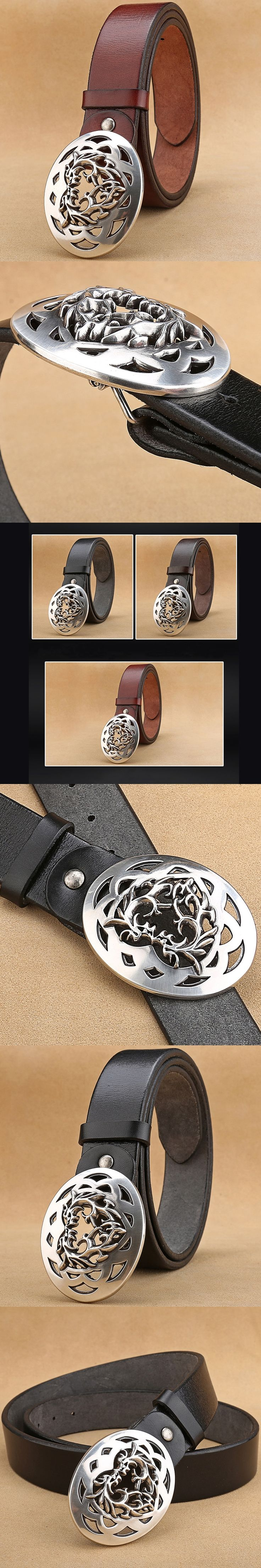 Hot Sale Top cow genuine leather designer belts mens fashion buckle Cowskin Waist Strap Black luxury famous brand Waistband