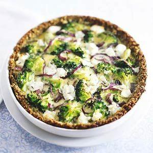 Recept - Mathildes broccoli-geitenkaasquiche - Allerhande
