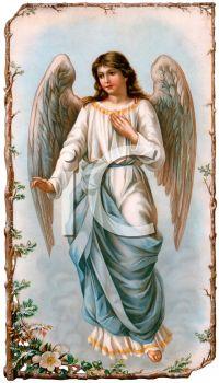 Vintage Angel Clip Art Free | Royalty Free Guardian Angel ...