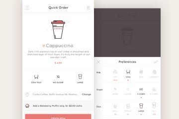 Quick Order App Ui, clean red design
