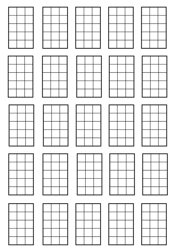 Blank chord sheet. (in case you wanna write you some songs
