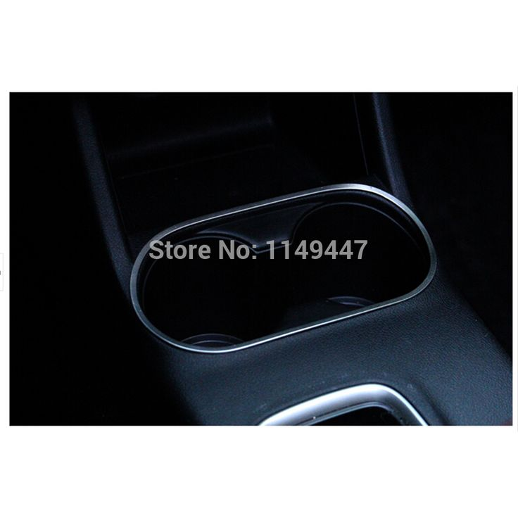 High Quality 1pcs Water cup holder decoration cover ring trims For Mitsubishi Outlander 2013 2014