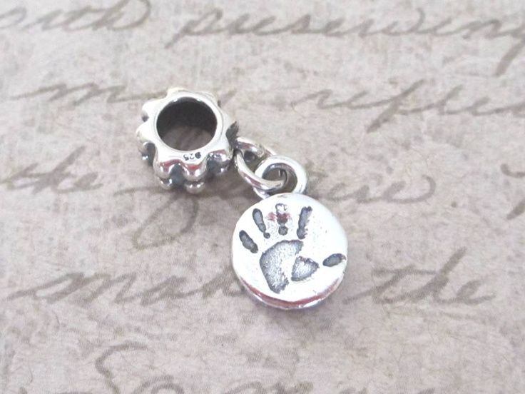 Baby Handprint Pandora Style Charm - using your childs actual handprint