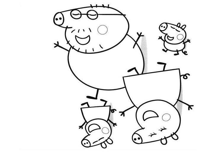 Guarda tutti i disegni da colorare di peppa pig www for Peppa pig da stampare
