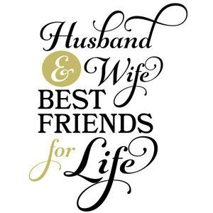 Advise you Husband and wife silhouette has