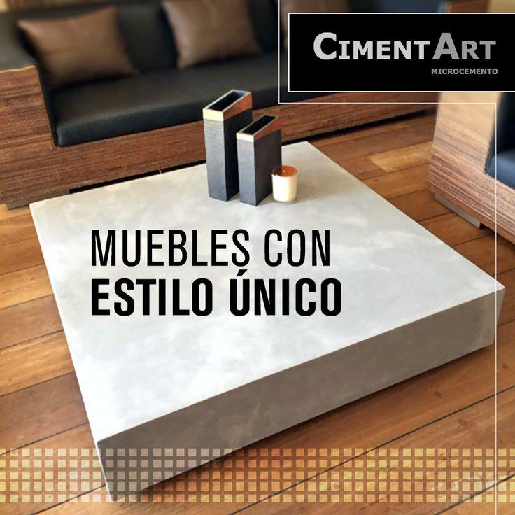 Ahora con nuestro mobiliario en microcemento conseguirás un estilo único para tu hogar.  #Microcemento #CimentArt #Mueble #Suelo #Estilo #Hogar