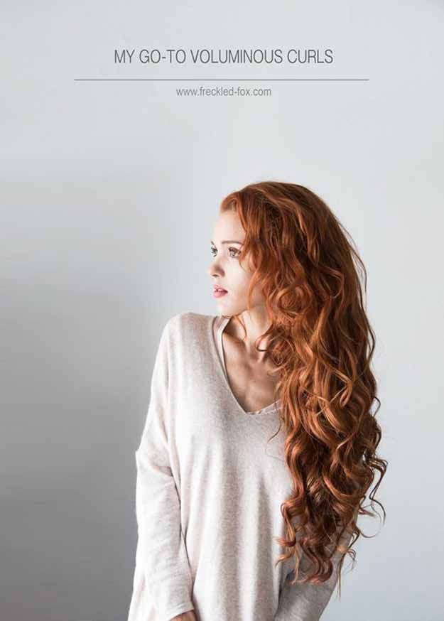 Best Pinterest Hair Tutorials - My To Go Voluminous Curls - Check Out These Super Cute And Super Simple Hairstyles From The Best Pinterest Hair Tutorials Including Styles Like Messy Buns And Half Up Half Down Hairdos. Dutch Braids Are Super Hot Right Now Too. These Are The Best Hairstyle Tutorials Ideas On Pinterest Right Now. Easy Hair Up And Hair Down Ideas For Short Hair, Long Hair, and Medium Length Hair. Hair Tutorials For Braids, For Curls, And Step By Step Tutorials For Prom, A Wedding...