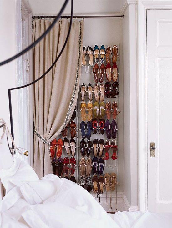 Ideias criativas para organizar sapatos