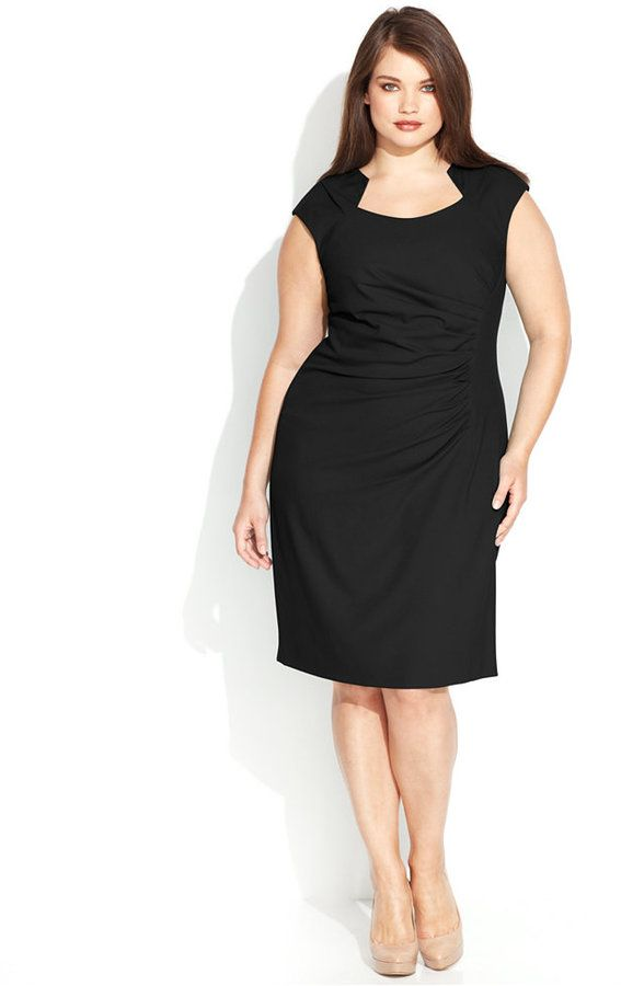 Plus Size Cutout-Neckline Sheath