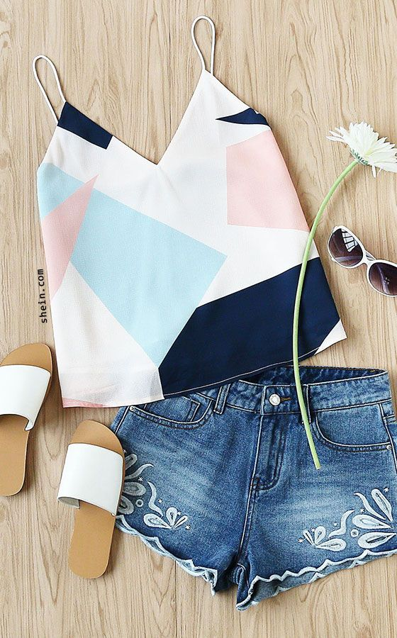 Mixed Print Cami Top
