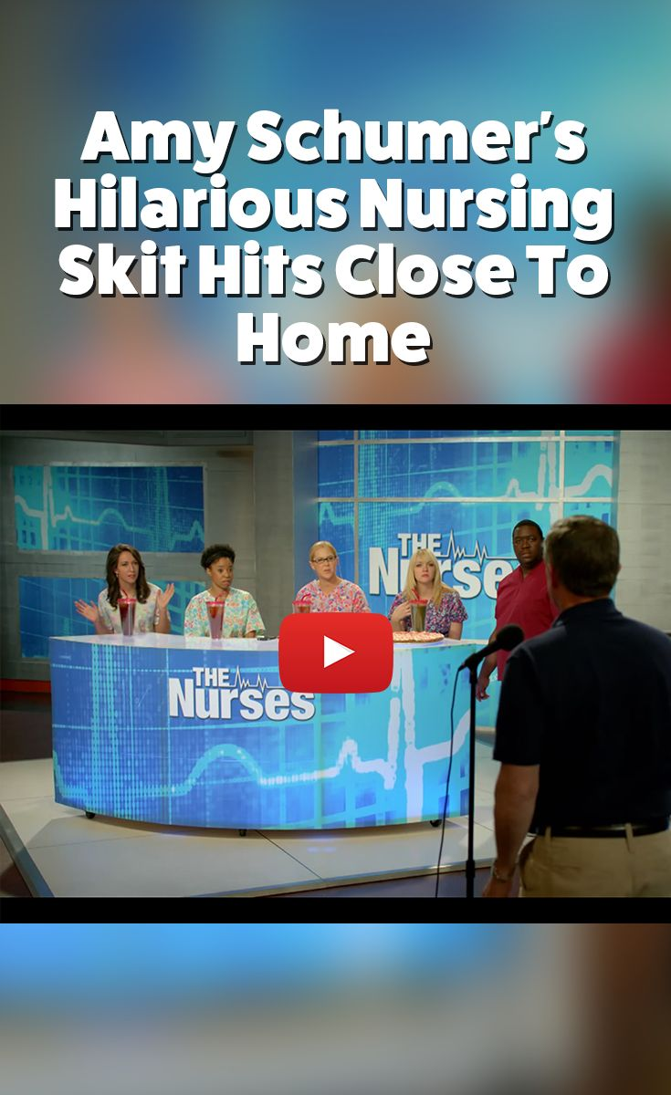 Amy Schumer's Hilarious Nursing Skit Hits Close To Home - Nurseslabs Well, here's a video that hits close to home! Amy Schumer depicts a typical day in the office acting from a nurse's perspective in Comedy Central's video The Nurses.