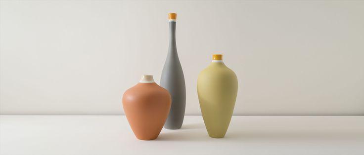 Matteo Thun Atelier, Artwork, Ceramics, Vasi Bicolore #matteothunatelier #matteothun #handmade #handmadeinitaly #italiandesign #matteothun #artwork #totemsac #vasibicolore #ceramics #tuscany