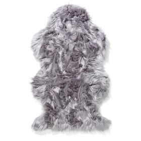 Wellington Faux Fur Rug - Grey