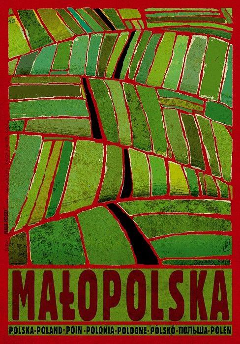 Małopolska | Polish Promotion Poster,  PLAKAT-POLSKA series, designer: Ryszard Kaja, year: 2013