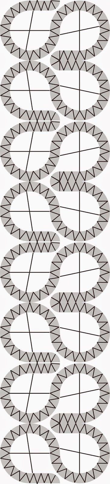 Egyszerűen imádom a szimmetrikus mintákat. Szerencsére a vertcsipke is szereti. vonalrajz mintakarton A csipke szélessége 5,5 cm...