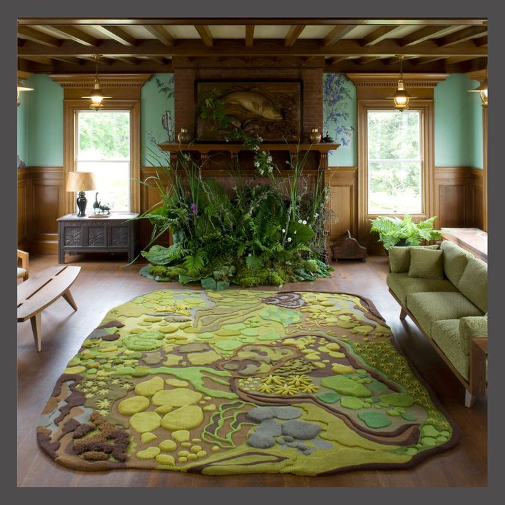 Forest floor rug great campy rooms pinterest Angela adams rugs