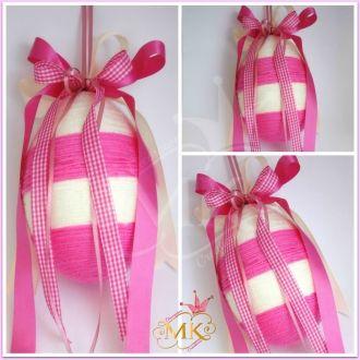 ΑΥΓΟΥΛΑΚΙ ΡΟΖ ΠΛΕΚΤΟ-Αυγουλάκι σε ροζ απόχρωση , πλεκτό, πασχαλινή-ανοιξιάτικη διακόσμηση για την εξώπορτά σας ή το σπίτι !!!! | myartshop