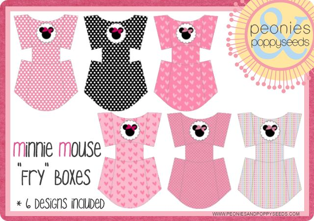 :) Minnie Mouse Fry boxes printable
