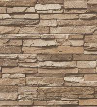 Papel pintado vinílico de piedra pizarra estilo rústico - 1142370