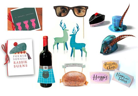 Hosting a party for Burns Night? Getting in touch with your Scottish roots?    This easy peasy party kit to print, cut out and assemble is a great