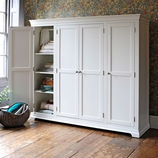 Chantilly White Quad Wardrobe