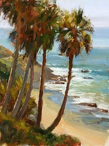 Laguna Palms by Jim Wodark Oil ~ 16 x 12