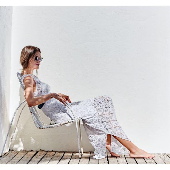 Maxi - Spitzenkleid im Romantik - Look
