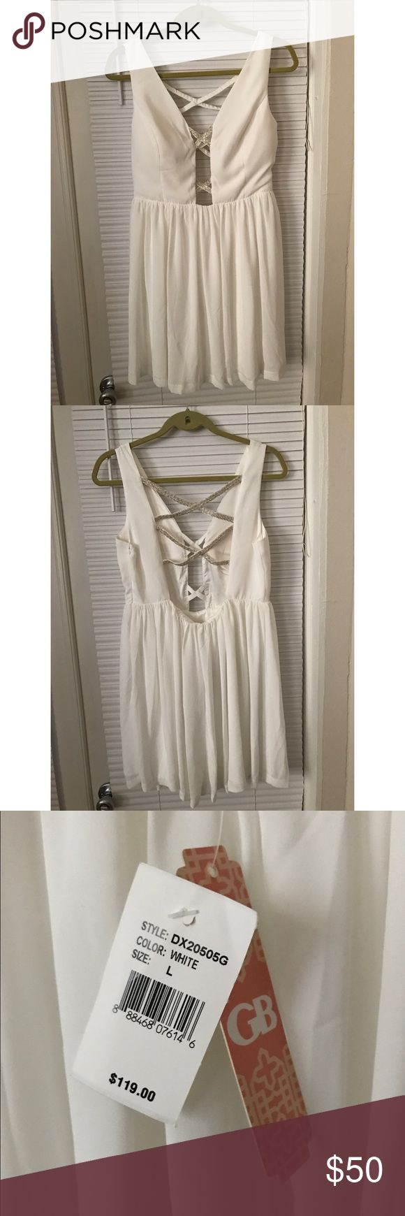 Selling this Gianni Bini Junior White Dress on Poshmark! My username is: tpnavywife. #shopmycloset #poshmark #fashion #shopping #style #forsale #Gianni Bini #Dresses & Skirts