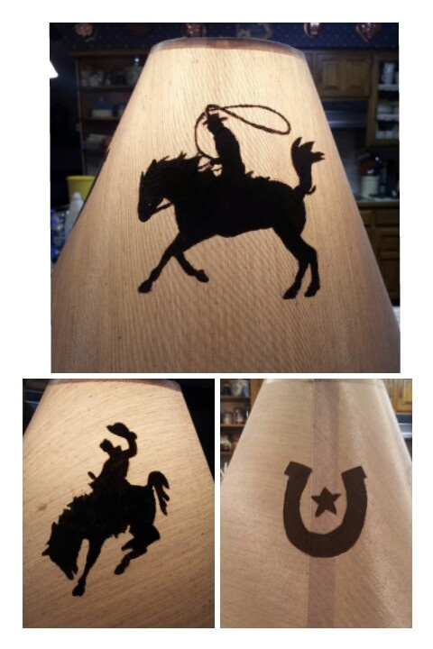 Painted this lamp for a cowboy room.  :)