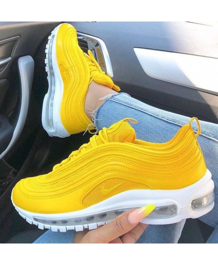 8435320c85be21 Women s Nike Air Max 97 Lemon Yellow White Trainer