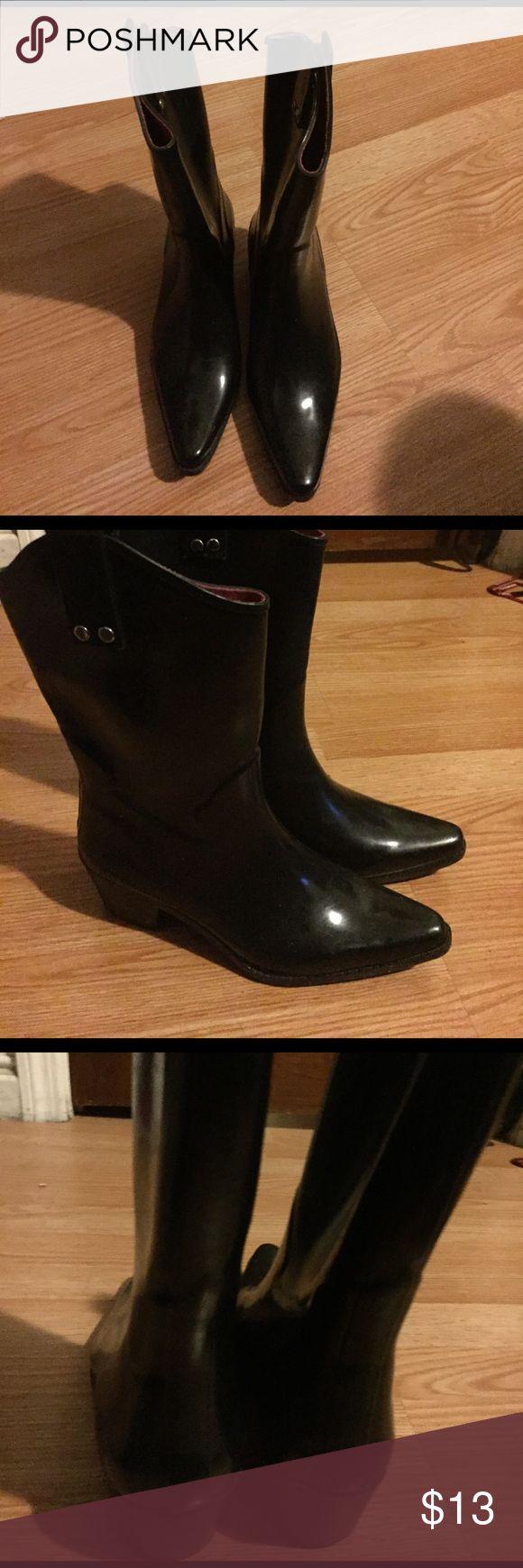Black rain boots Black capelli cowgirl rain boots. Worn an handful of times. Enjoy the rain in style! capelli Shoes Winter & Rain Boots