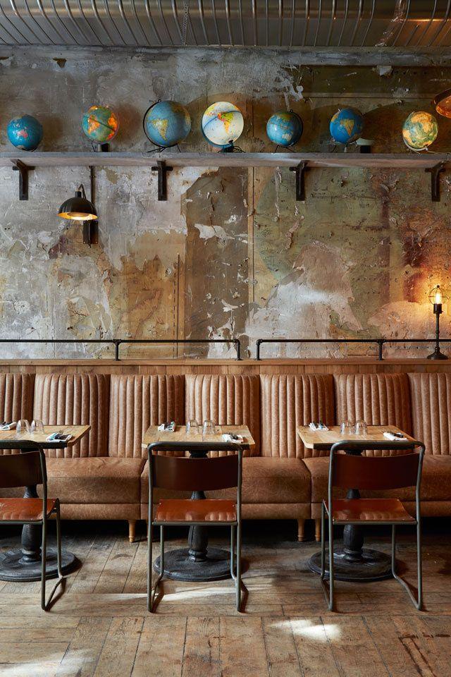 Les globes-terrestre comme au Majestique (L'italien le plus design : Margherita Saint Germain)