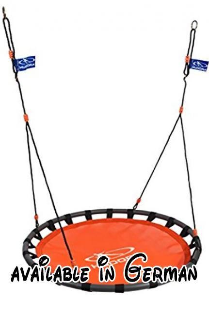HUDORA Nestschaukel Aluminium, 120 cm, orange - Garten-Schaukel bis 120 kg - 72160. GS-geprüftes Premium-Produkt. Höhenjustierbares Seil von 146 bis 176 cm, inkl. Haltestahlring und Verstellöse. besonders weiche Sitzfläche und ausschließlich wetterbeständige Materialien. ca. 120 cm Sitzflächendurchmesser; Max. Benutzergewicht 120 kg. Mit genügend Platz kann die Schaukel auch als Kuschelnest im Haus aufgehängt werden #Toy #SPORTING_GOODS