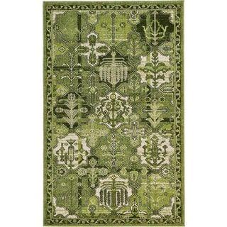 Turkish La Jolla Green Polypropylene Rug 3' 2 x 5' 2) | Overstock.com Shopping - The Best Deals on 3x5 - 4x6 Rugs