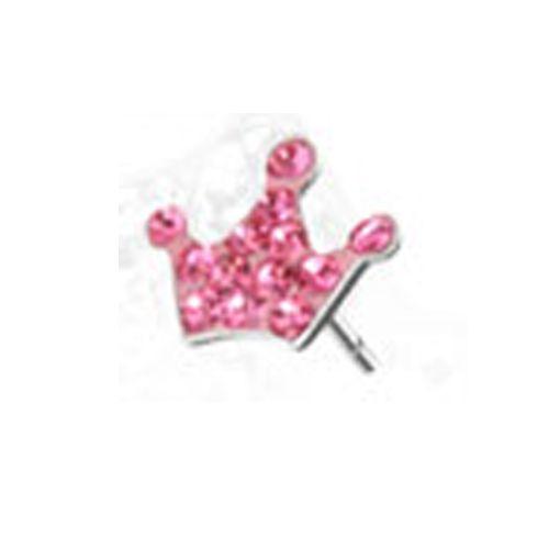 Oorbellen kroon roze