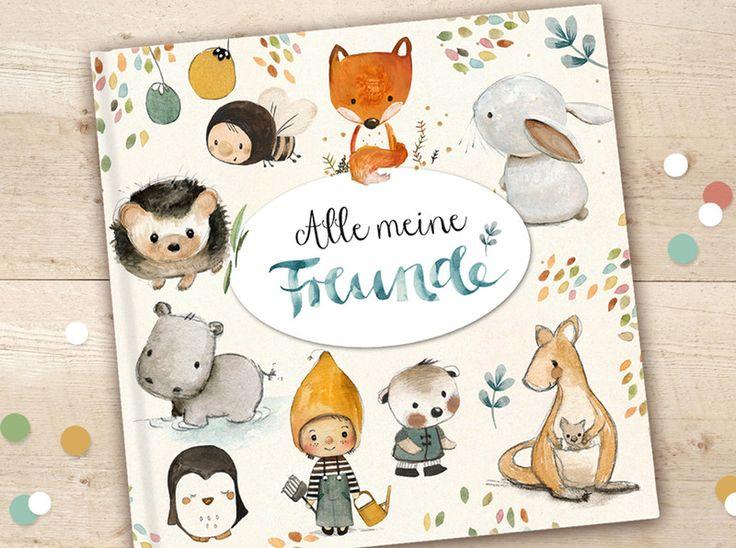 Weiteres - Freundebuch Kindergarten - ein Designerstück von pipapier bei DaWanda