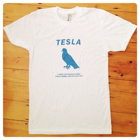 Nikola Tesla Shirt Tesla Screen Print American Apparel