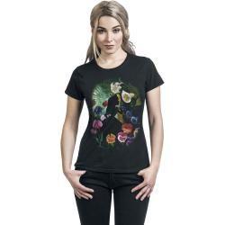 Alice im Wunderland Black Flower T-Shirt